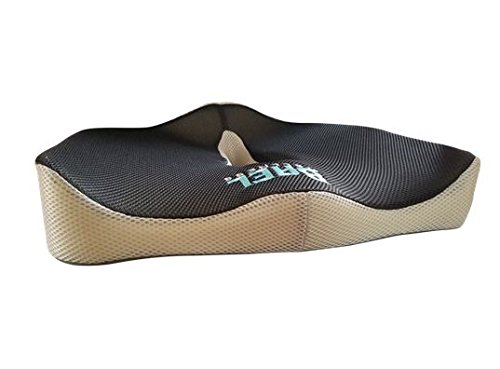 Coccyx Support Cushion - Bael Wellness Premium Orthopedic Seat Cushion got Sciatica, Coccyx, Tailbone, and Back Pain Relief. New Improved Design. Fits Any Office Chair. Anti-Sliding Back.