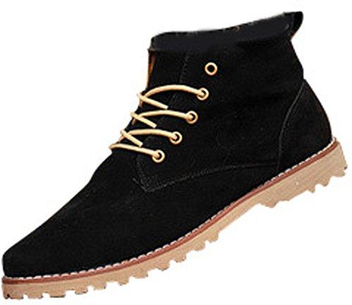 Jeansian Hommes Mode Chaussures De Loisirs Chaussures Shb036 Noir