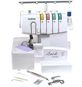 Brother 1034D 3-4 Thread Serger Easy Lay In Threading with Differential Feed  Home Sewing & Embroidery Machine
