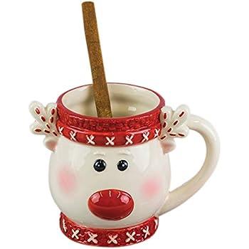 Amazon Com The Emporium Festive Rudolph Heat Change Mug