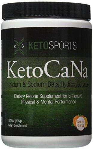 KetoSports KetoCaNa Dietary Ketone Supplement For Physical and Mental Performance, Natural Orange, 10.75 oz.