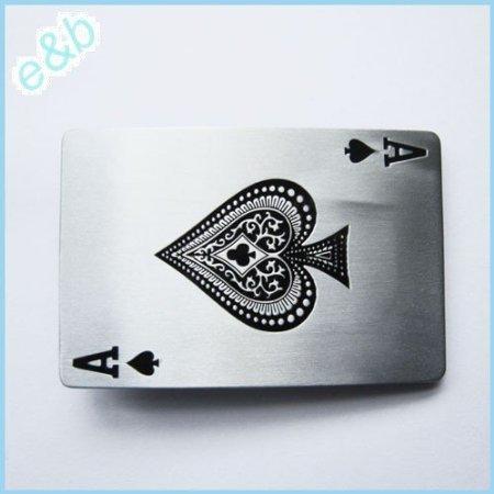 1 X Brand:e&b Casino Ace Spade Poker Card Belt Buckle Cs-013