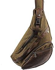 Xieben Skórzana torba na ramię vintage torba na klatkę piersiową dla mężczyzn kobiet podróż na zewnątrz plecak na ramię plecak na co dzień