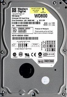 Western Digital Caviar 80GB UDMA/100 5400RPM 2MB IDE Hard Drive
