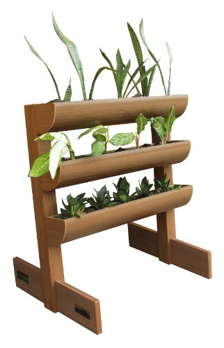 DC America City Garden CG-SP-362340-T Vertical Planter without Storage Box, 3 Shelves by D C America