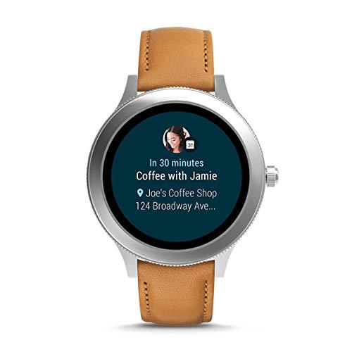 Fossil Smartwatch Mujer de Digital con Correa en Cuero FTW6007