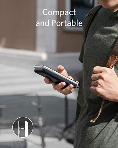 Anker PowerCore+ 10000 con Cavo USB-C Integrato Caricabatterie Portatile con erogazione Alimentazione 10.000 mAh (18 W… 5 spesavip