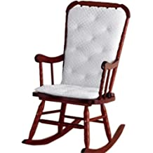 BabyDoll Bedding Heavenly Soft Adult Rocking Chair Pad, White