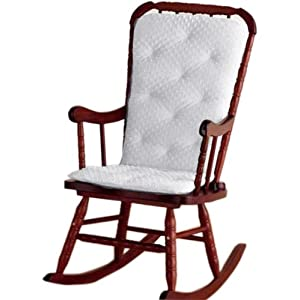 Baby Doll Bedding Heavenly Soft Adult Rocking Chair Pad, White (Chair is not Included with The Product)