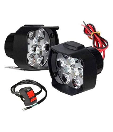 9 LED 15 W Fog Light Universal Bike and Car Work Lamp for Off Roading with on/Off Switch – Set of 2