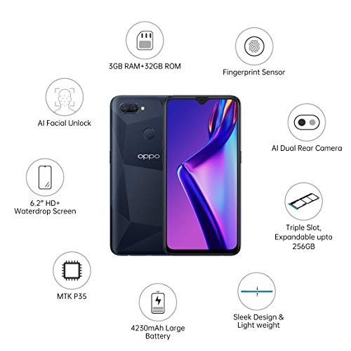 OPPO A12 (Black, 3GB RAM, 32GB Storage) with No Cost EMI/Additional Exchange Offers 2