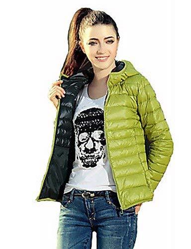 L Noir 25-FANYUHONG Manteaux et Vestes MultiCouleures de Couleur Unie pour Femmes, col Tailleur à Manches Longues