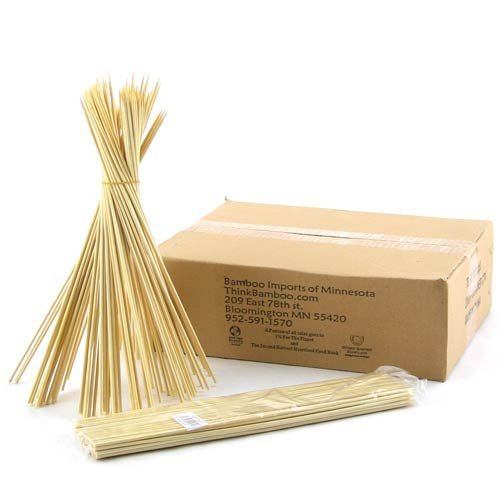 BambooMN Brand Premium 11.8'' 3mm Bamboo Skewers, 1000pcs/bag x 10 bags by ThinkBamboo - Cooking