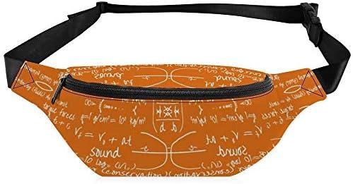 一般的な方程式オレンジ小 ウエストバッグ ショルダーバッグチェストバッグ ヒップバッグ 多機能 防水 軽量 スポーツアウトドアクロスボディバッグユニセックスピクニック小旅行
