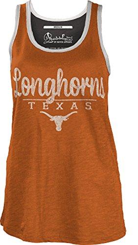 Pressbox Texas Longhorns Women's Orange Cherie Tank Top (Large) (Longhorns Tank Texas)