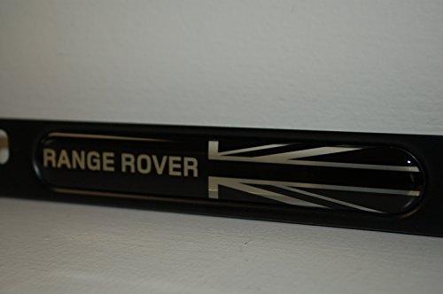 Genuine Land Rover Black Jack License Plate Frame Matte Black Finish