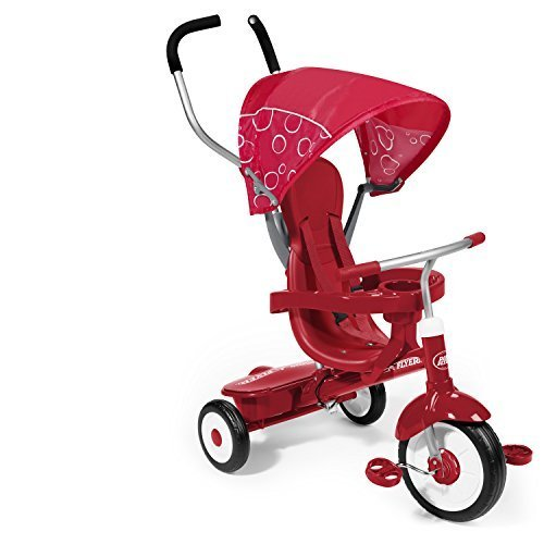 Radio Flyer 4-in-1 Tricycle, Kids Tricycle, Red