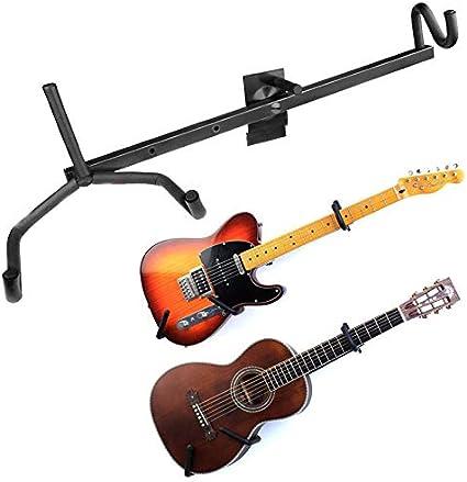 Soporte de pared horizontal para guitarra acústica, bajo, guitarra ...