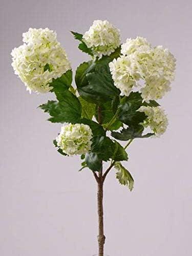 artplants.de Set de 2 x Bola de Nieve Artificial JIVA, Crema, 50cm, Ø 4-7cm - Planta Bola de Nieve - Pack de Plantas sintéticas