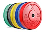 X Training Equipment Premium Color Bumper Plate Solid...