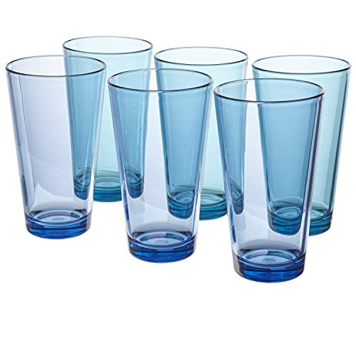 (Bistro Premium Quality Plastic 20oz Water Tumbler | Set of 6 Multicolor)