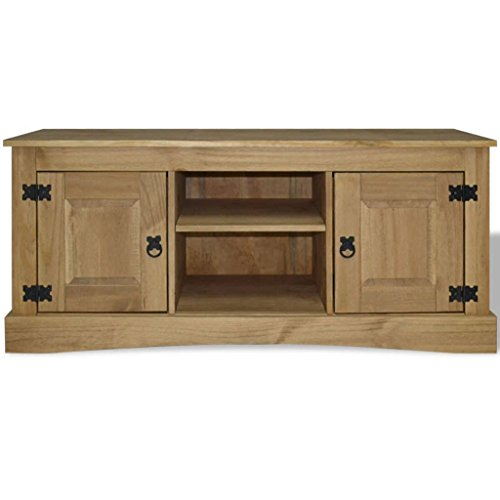 - Tidyard Vintage TV Cabinet, TV Stand, Mexican Pine, Corona Style 47.2