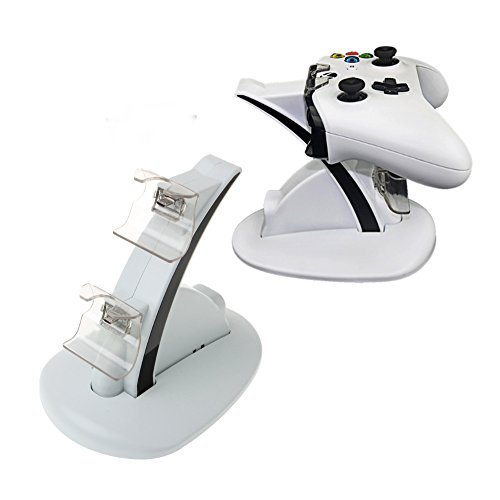 Loovbee Xbox One/One X/One S Controller Charger, Dual Quick Charging Docking Station Stand for Xbox One, One X, Xbox One S Controllers