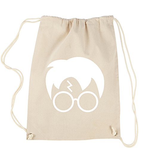 Backpack Harry Glasses Lightning Bolt Hair Natural Drawstring - Glasses And Natural Hair