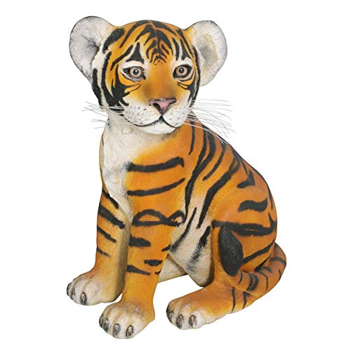 Design Toscano The Grand-Scale Wildlife Animal Sitting Tiger Cub Statue