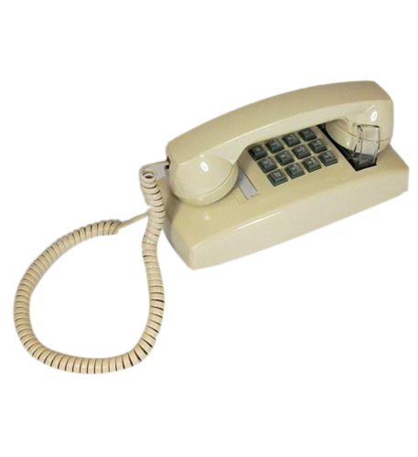 Cortelco 255409-Vba-20m Wall Phone With Volume Ivory ()