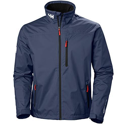 Helly Hansen Men's Crew Midlayer Waterproof Windproof Breathable Sailing Rain Coat Jacket, 597 Navy, Large from Helly Hansen
