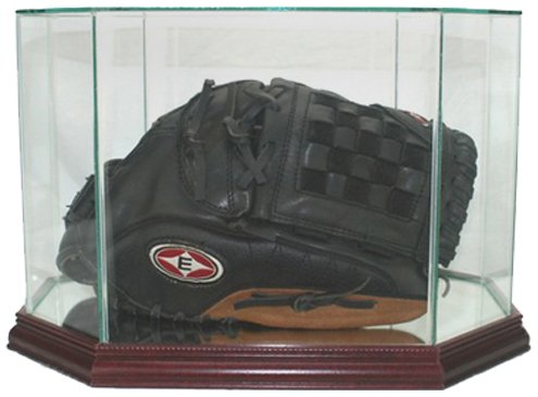 - Perfect Cases MLB Octagon Baseball Glove Glass Display Case, Cherry