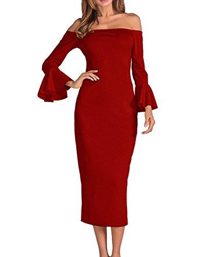Damen Bodycon Kleider Abendkleid Elegant Cocktailkleid Kleider Party ...