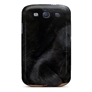 Snap-on Case Designed For Galaxy S3- A Very Cultivated Black Cat