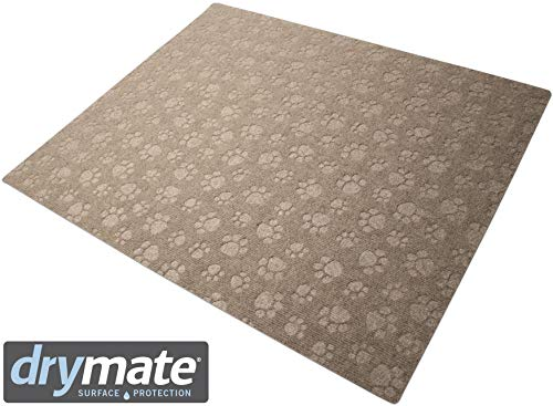 Drymate Premium Litter Trapping Mat, Cat Litter Mat (28 Inches x 34 Inches), Paw Design Traps Litter - Absorbent/Waterproof/Urine-Proof - Machine Washable, Durable, (USA ()
