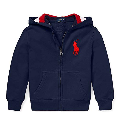 Polo Ralph Lauren Boy's Big Pony Cotton French Terry Hoodie, Size 6(yrs), Navy