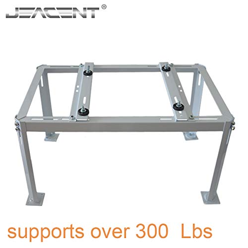 Jeacent Mini Split Ground Stand, Outdoor Air Conditioner Support Brackets for Ductless Split Condenser, Off White