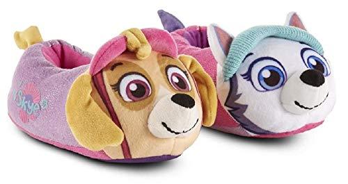 PAW Nickelodeon Girl's Patrol Slippers (7-8 M US Toddler, Pink/Purple)