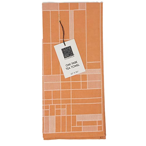 KAF Home Frank Lloyd Wright Woven Jacquard Tea Towel 20 x 30-inch 100-Percent Cotton (Oak Park) - Jacquard Tea Towels