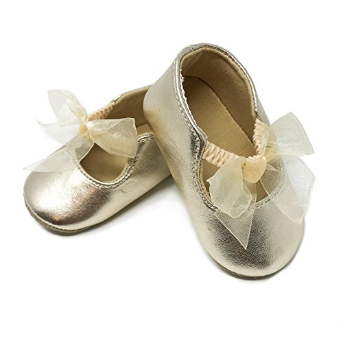 Gold Ribbon Bow Ballet Flat - Medium