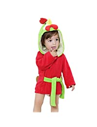Baby Girls Novelty 3D Hooded Animal Dressing Gown Bath WINTER Robe Toddler Wrap