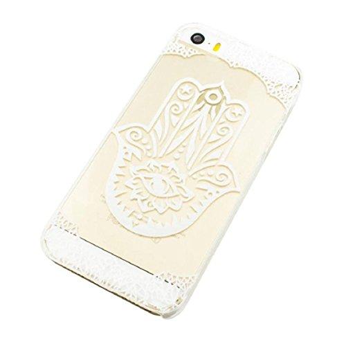 Culater® für iPhone 5 5S schön Hand der Fatima Muster klar Kunststoff hülle Tasche case cover