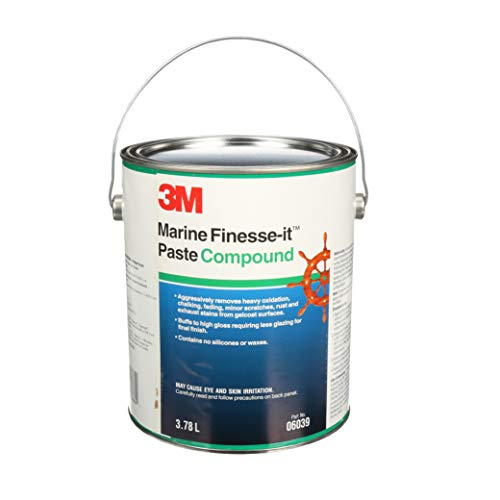 3M 06039 For Finesse-it Marine Paste Compound - For Boats, Cars, Trucks and RVs - 1 Gallon ()
