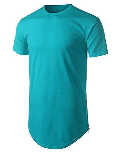 URBANCREWS Hipster Longline Crewneck T shirt