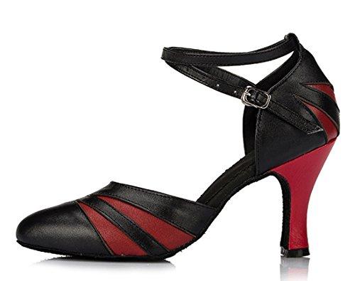 TDA - Sandalias con cuña mujer 8cm Heel Black Red