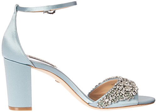Badgley Mischka Womens Hines Sandalo Con Tacco In Cristallo Blu
