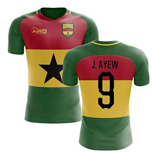 Airosportswear 2019-2020 Ghana Flag Concept Football Soccer T-Shirt Jersey (Jordan Ayew 9) - Kids