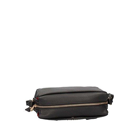 Tracollina LIU JO nero pelle, nimes larg. 22 cm x alt. 16 cm c/tracolla , nuova collezione autunno inverno 2017/2018 black_black, schwarz