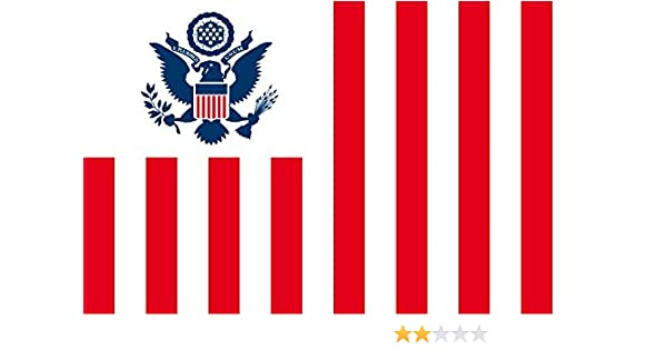magFlags Bandera Small United States Customs Service | US Customs Flag - Sixteen Vertical Red and White Stripes Since The U | Bandera Paisaje | 0.7m² | 70x100cm: Amazon.es: Jardín