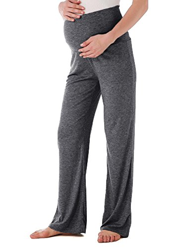 Jinson Womens Maternity Wide/Straight Versatile Comfy Palazzo Lounge Pants Stretch Pregnancy Trousers